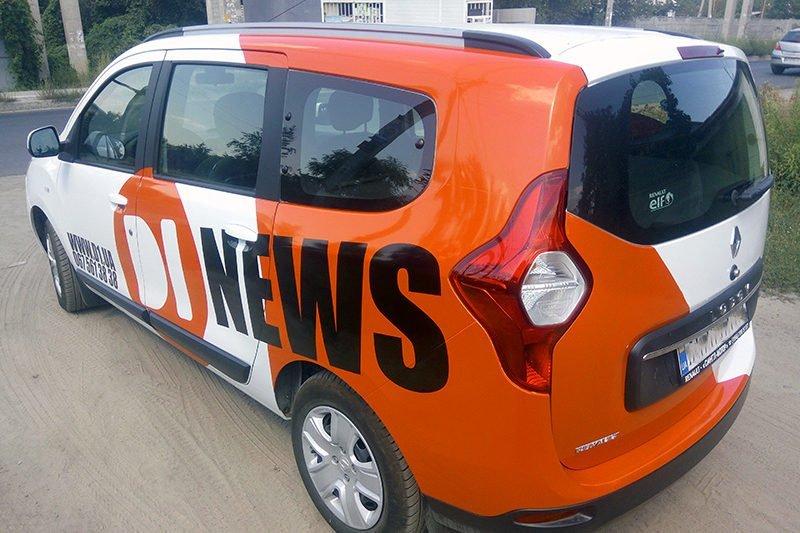 Okleyka avto di news sidea lodgy