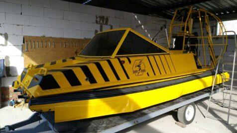 Брендирование лодки