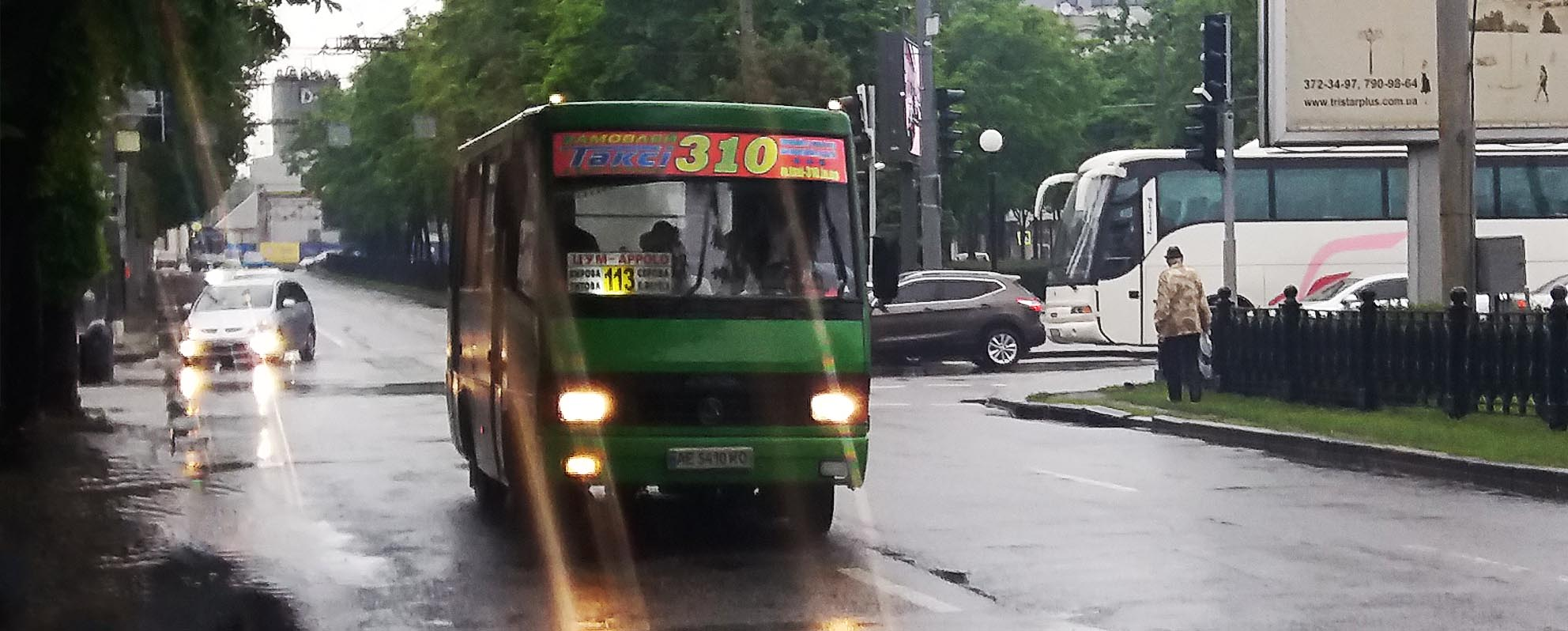 Размещение рекламы Такси 310 на маршрутках