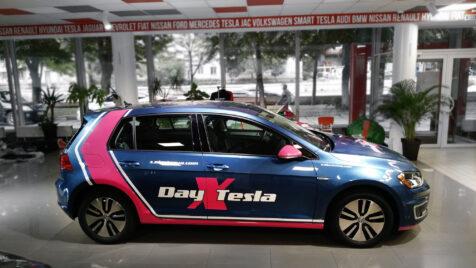 Обклеювання електромобіля для компанії Електро ЮА