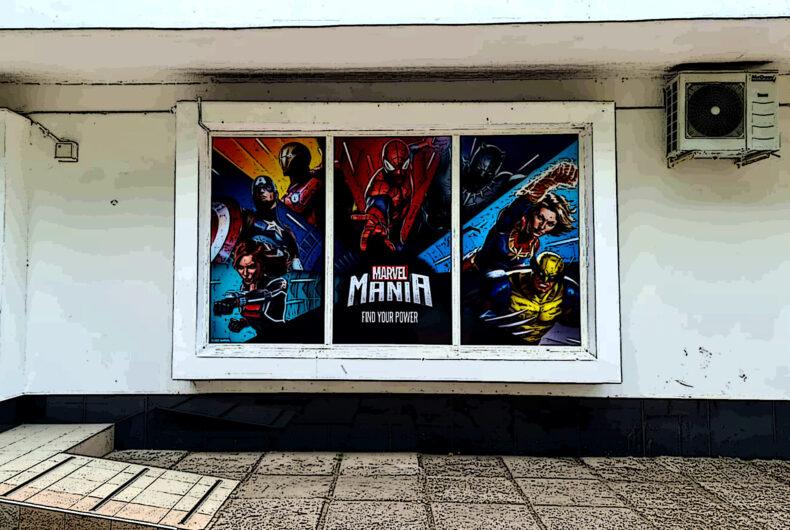 Оклейка витрин для магазина Антошка