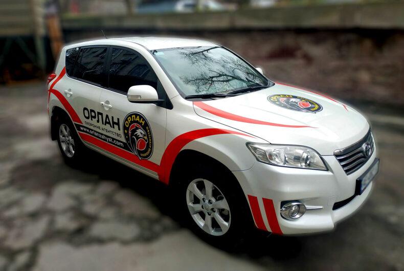 Обклеювання авто плівкою для охоронного агентства ОРЛАН